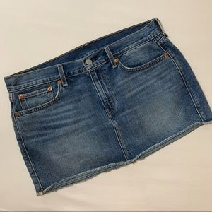 Levi's Mini Raw Hem Denim Skirt